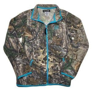 RealTree Camo Full Zip Fleece Sweater Jacket Small